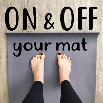 Kelly DiNardo press On and Off Your Mat